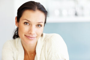 Beautiful woman that uses collagen for skincare
