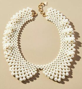 Anthropologie Pearlescent Collar Necklace