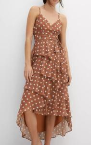 Antropologie Polka Dot Wrap Maxi Dress