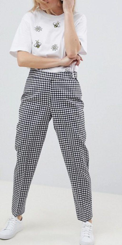 Asos Design Gingham Pants