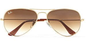Ray Ban Aviator gold tone sunglasses