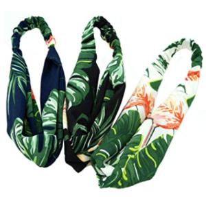 Aysekone 3 Pack Elastic Women's Tropical Beach Wind Summer Headbands