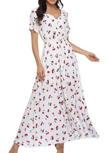 Cherry Floral Maxi Dresses
