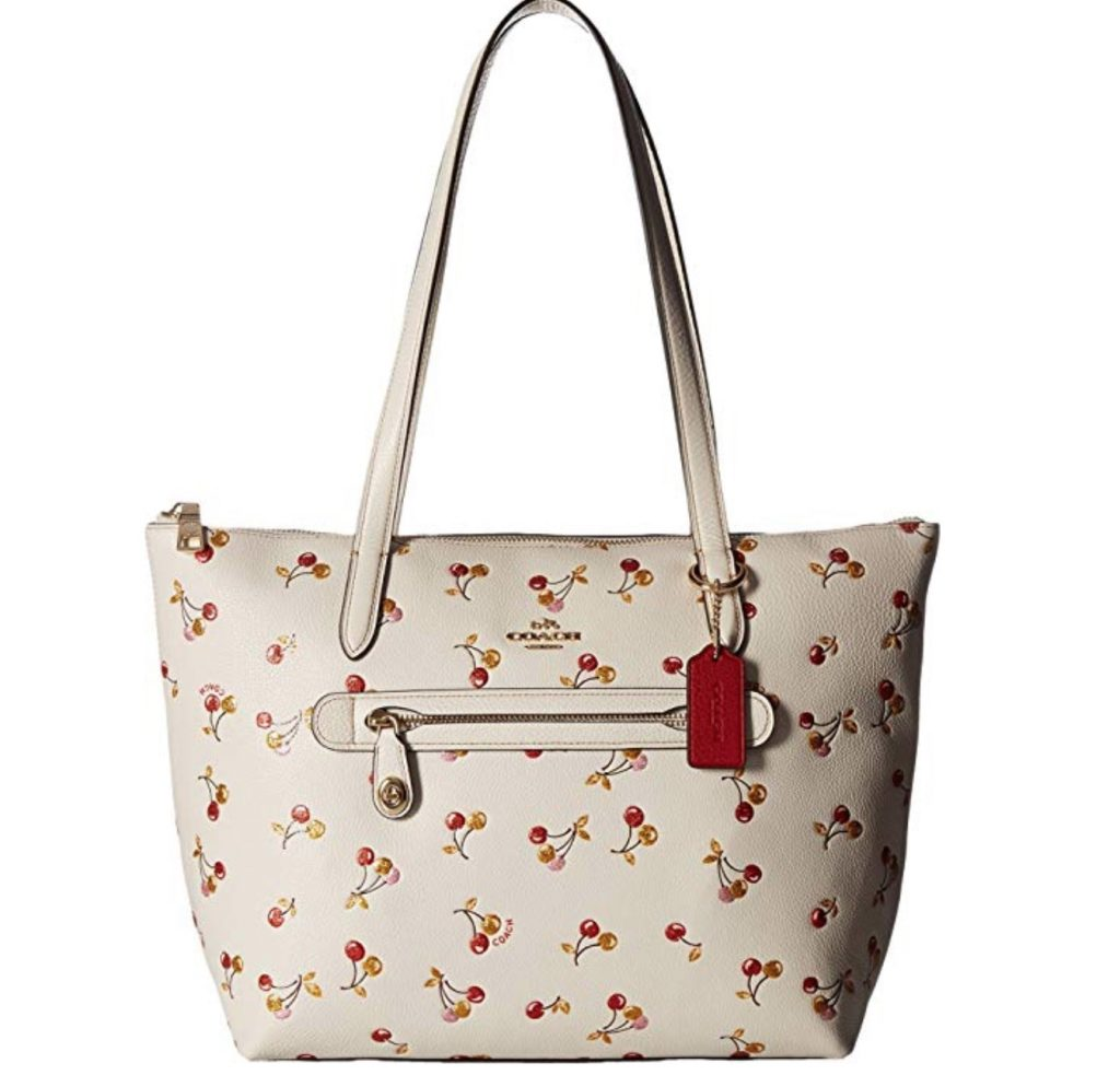 Coach Cherry Print Taylor Tote