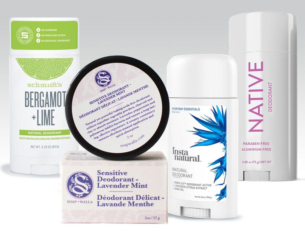 natural deodorants collage