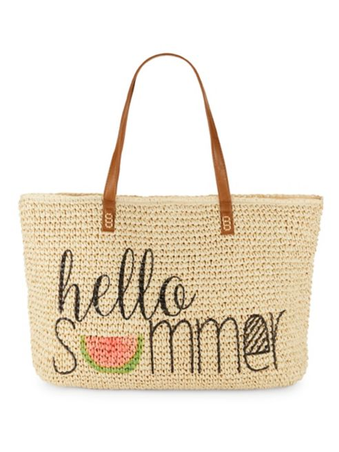 Hello Summer Straw Tote