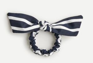JCREW Bow scrunchie in stripe