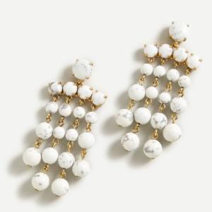 JCREW Candy dot chandelier earrings