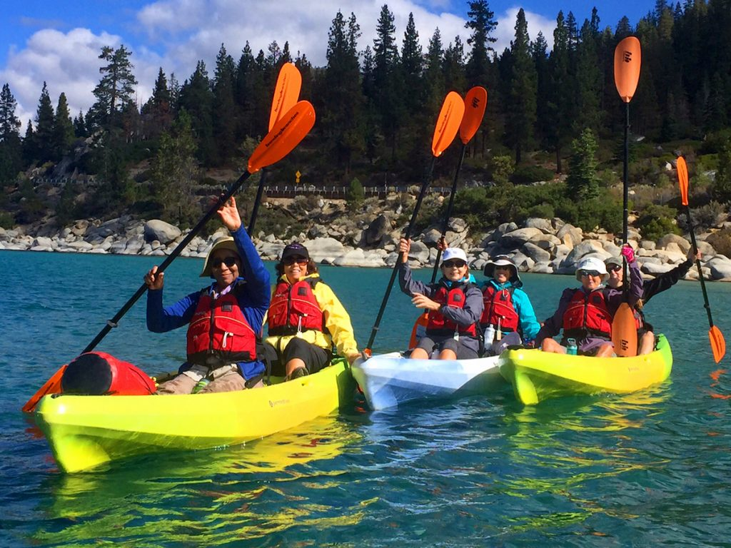 Kayaking Lake Tahoe California