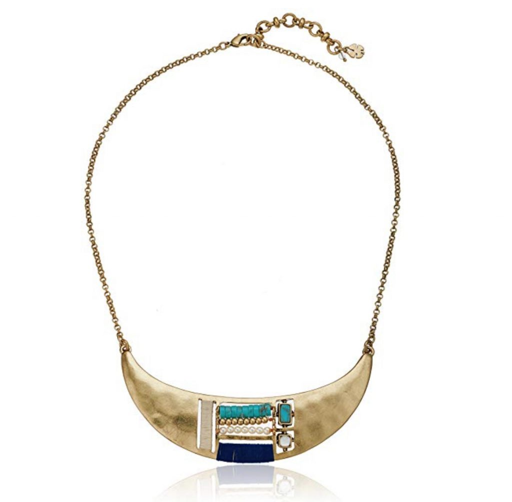 Lucky Brand Beaded Inset Collar Necklace