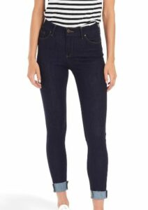 Mott and Bow Mid Rise Skinny Broome Jeans