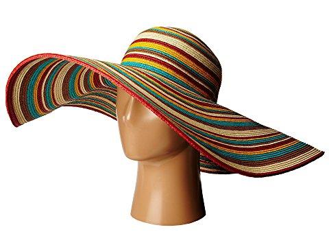 San Diego Hat Co Striped Floppy 8Inch Brim SunHat