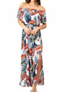Sayulita Off the Shoulder Maxi Dress