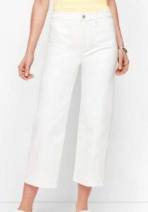 Talbot White Crop Jeans