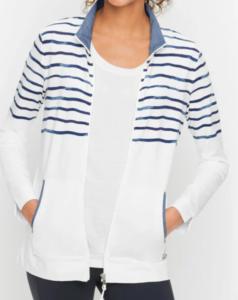 Talbots Wave Stripe Jacket