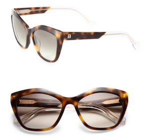 oversized square tortoise shell balenciaga sunglasses