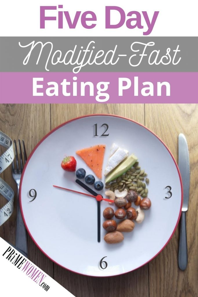 Five day modified fast eating plan