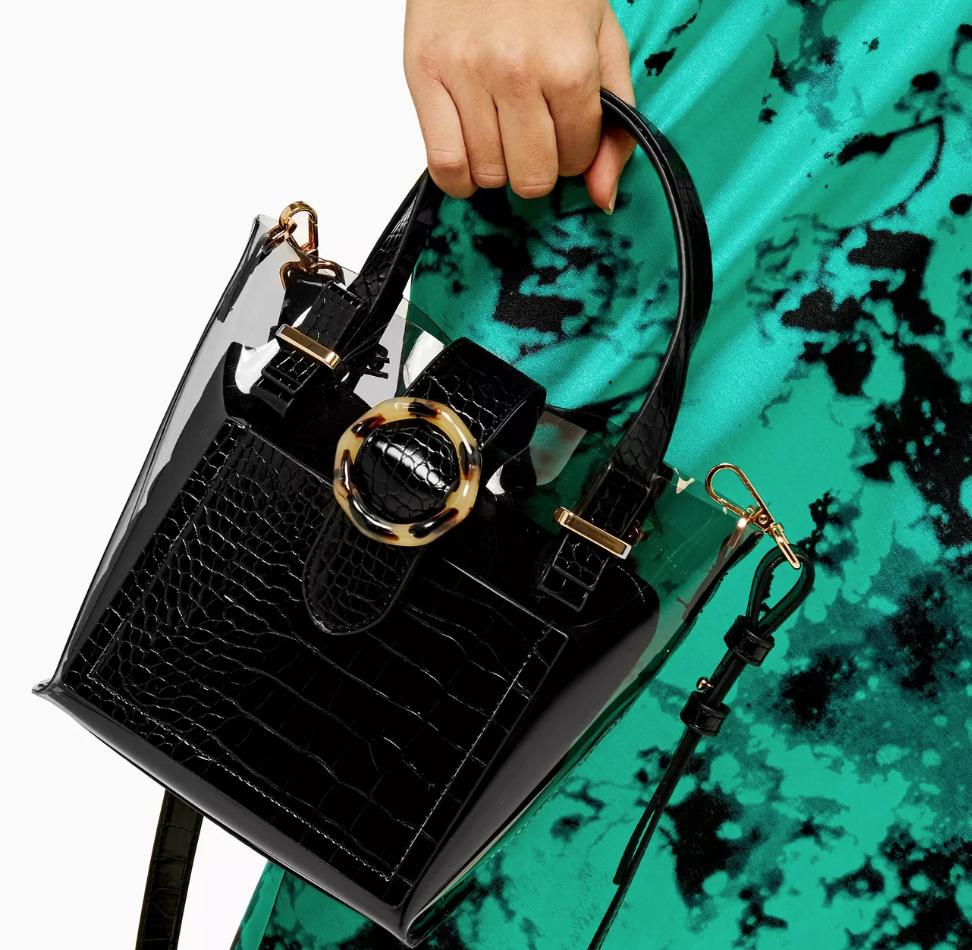 TopShop Mix Mini Tote Bag clear handbags