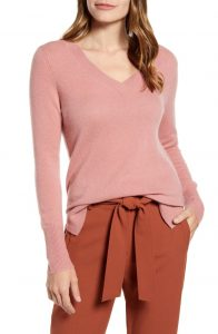 Vneck cashmere sweater on sale for Nordstrom's Anniversary