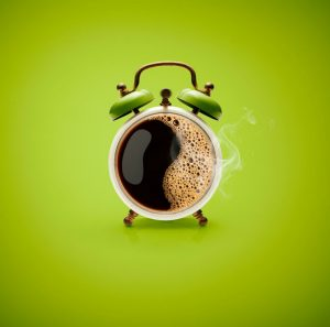 healthy habits - alarm coffee