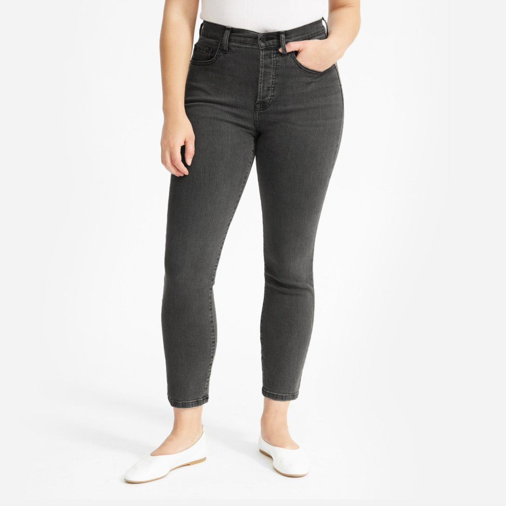 Everlane The Authentic Stretch High-Rise Cigarette Ankle Jean