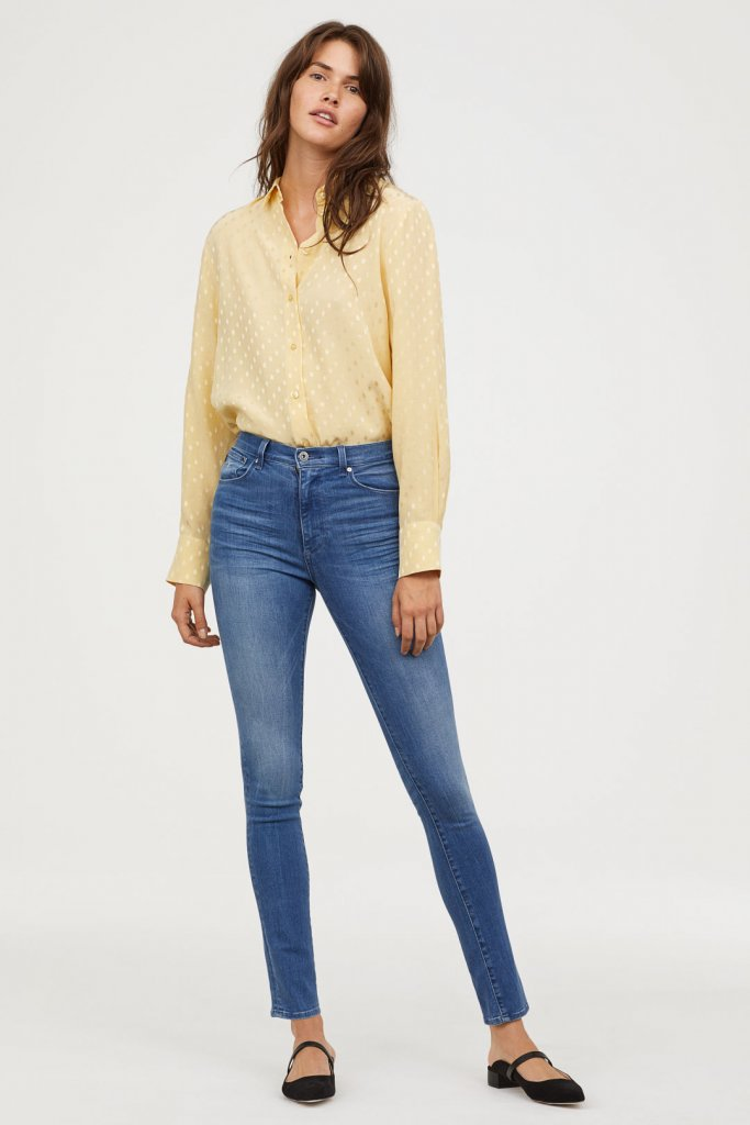 H+M Shaping Skinny High Jeans