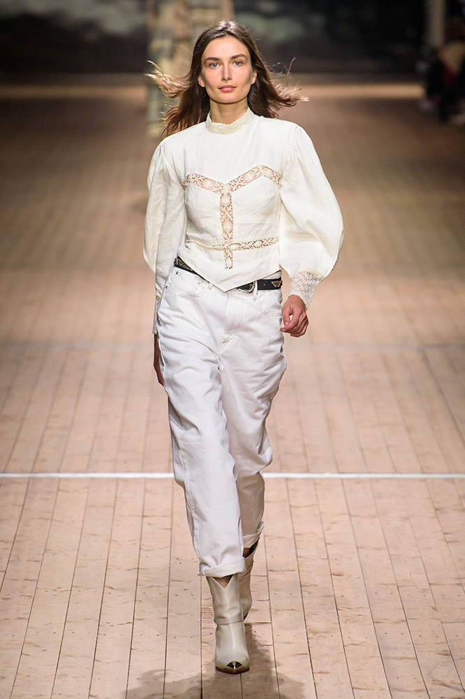 Isabel Marant Fall Runway TheFashionSpot Western Boots