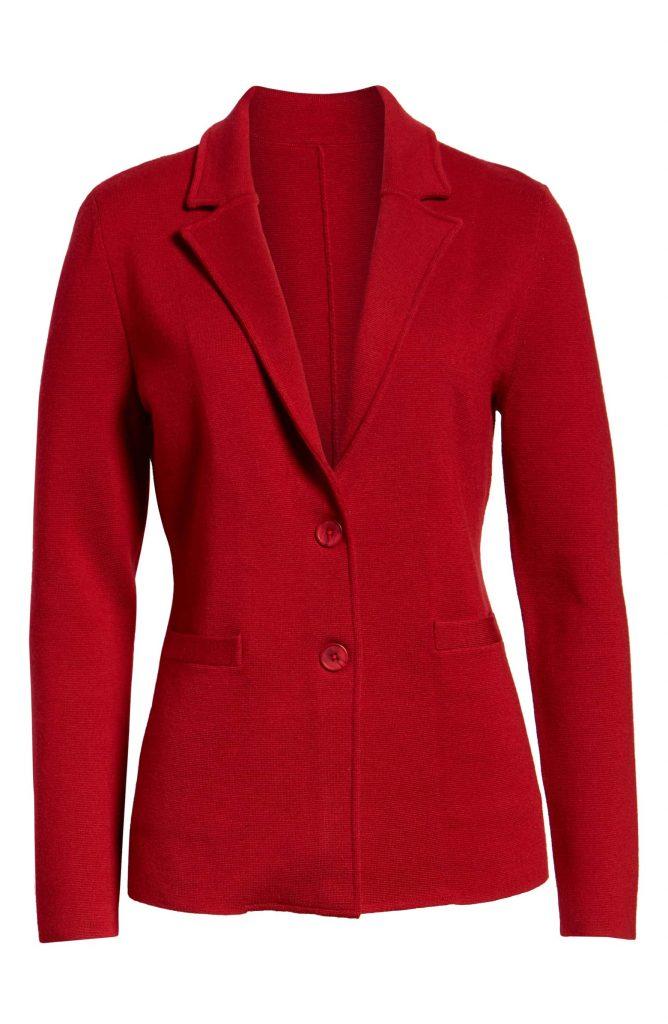 1901 Red Sweater Blazer