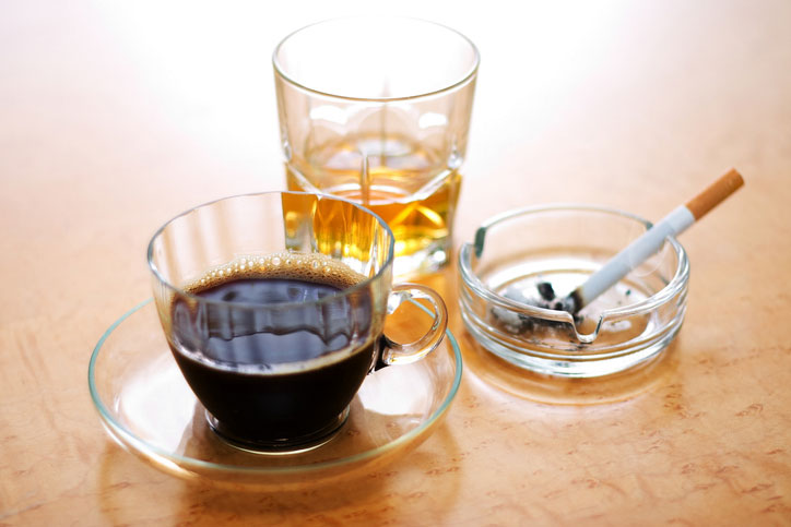 Smoking, caffeine, and booze: three of the usual suspects for menopause symptoms.