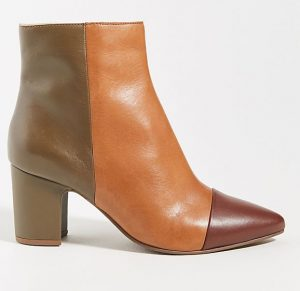 Block color trio booties from Anthropologie