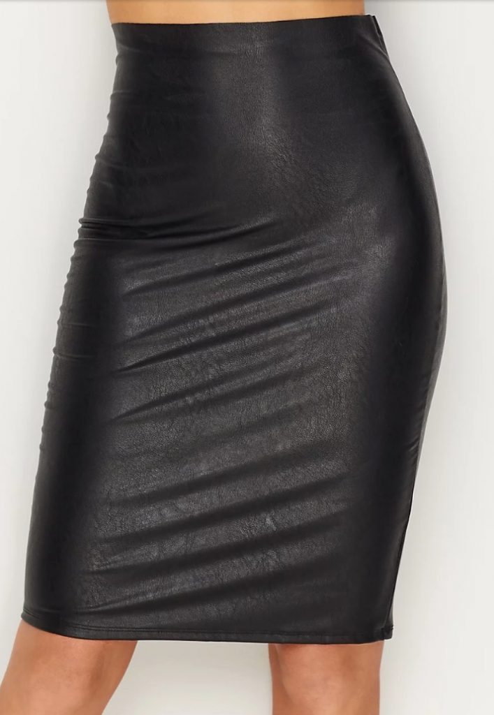 Commando Faux Leather Skirt