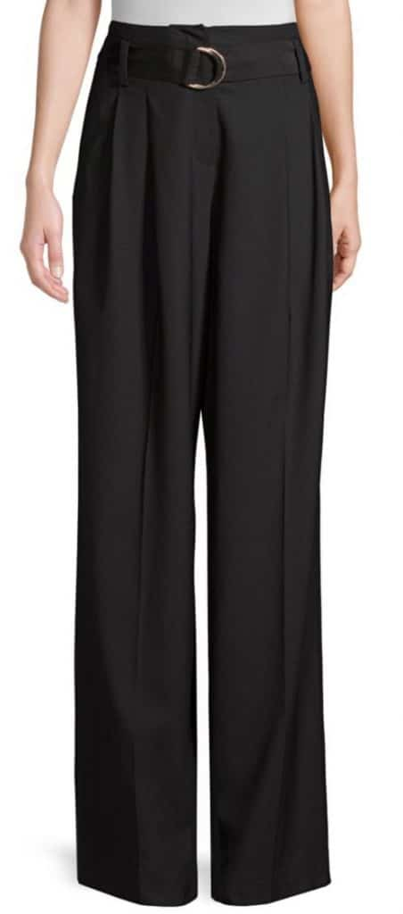 DVF Belted Waist Wide Leg Pant