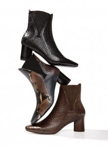 Python Hand Painted Booties by Donald J. Pliner