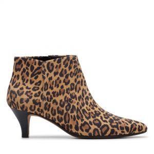 Leopard Print Kitten Heel bootie by clarks