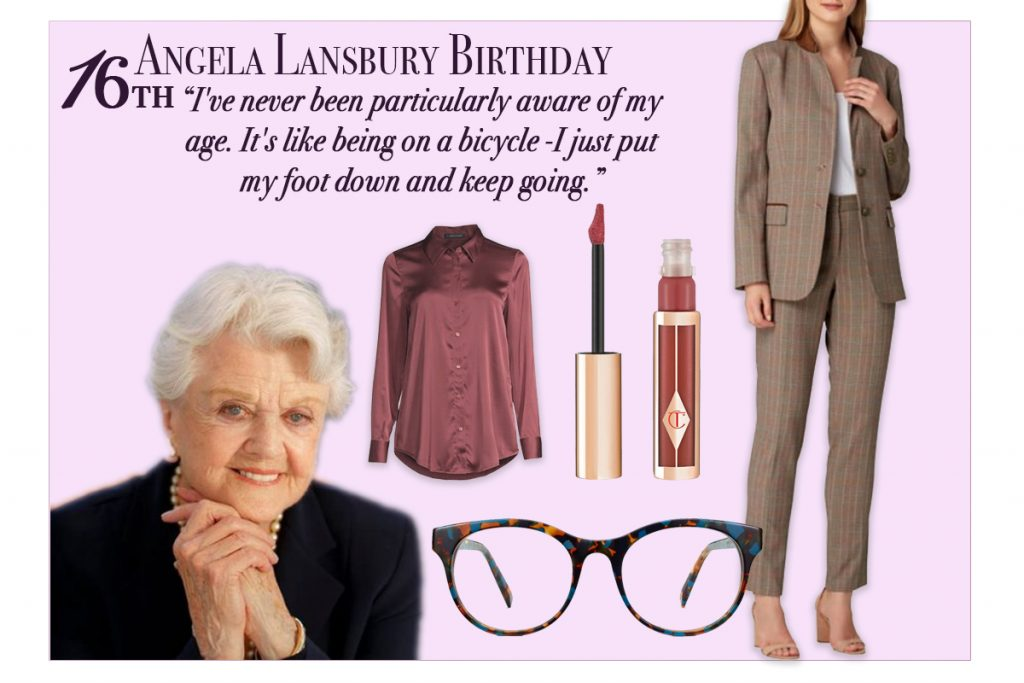 Oct Fashion Agenda October 16th Angela Lansbury Day