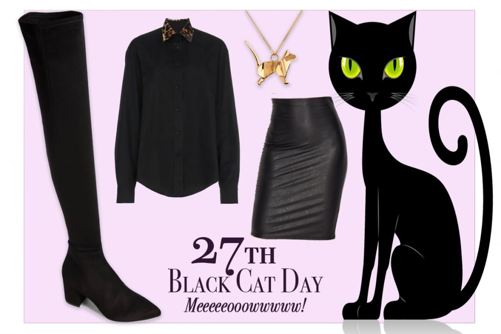 Oct Fashion Agenda-October 27th Black Cat Day