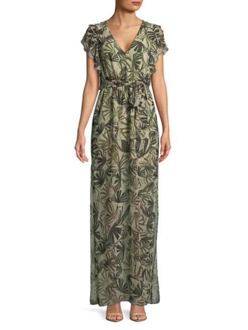 Palm-Print Dress
