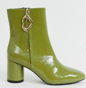 Green Patent Booties