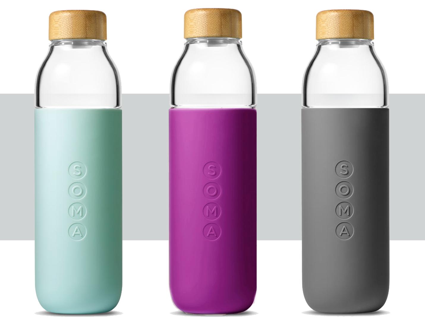 Soma glass water bottles
