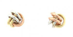 Tri Tone Earrings