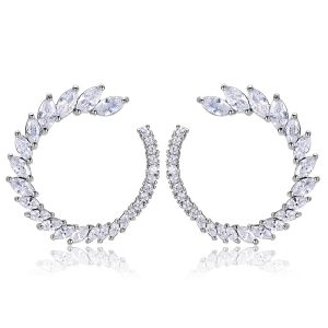 Trudy Earrings White Crystal