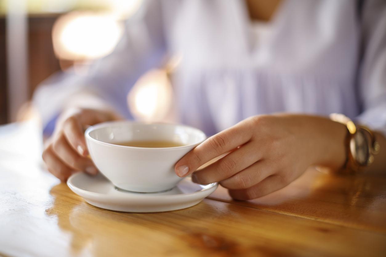 Woman Enjoying Tea