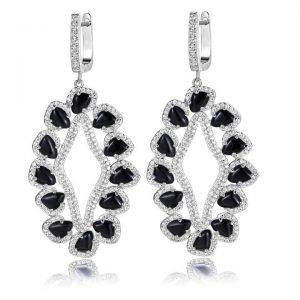 davine earrings in black