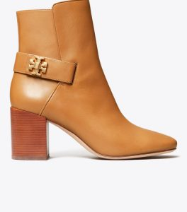 Kira Bootie in Tan with block heel from Tory Burch