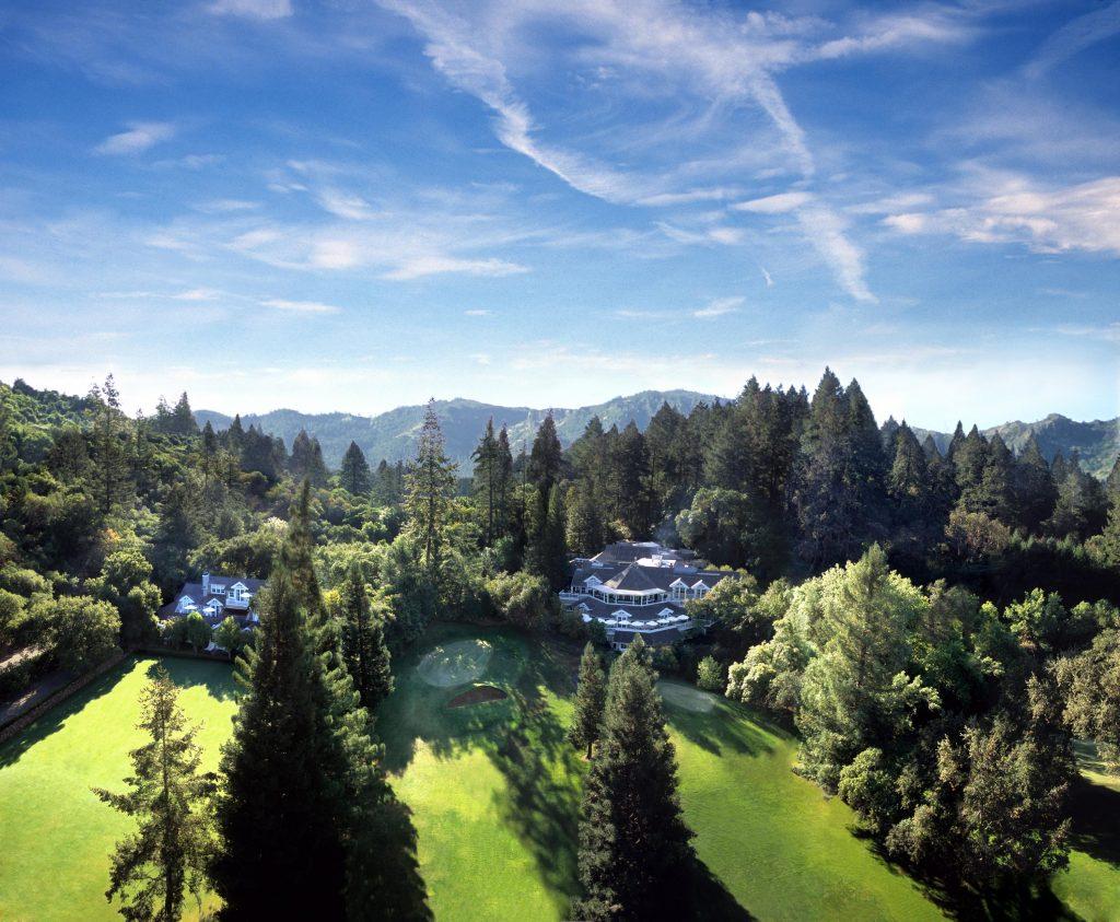 meadowood resort aerial