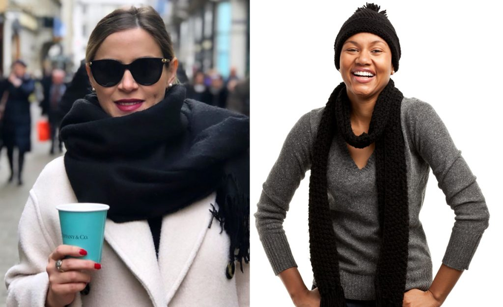 how to wear a scarf: bigger is better