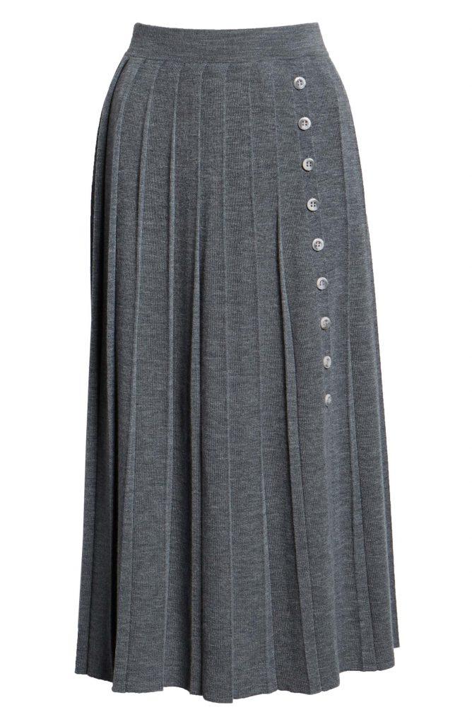 1901 Sweater Pleated Skirt