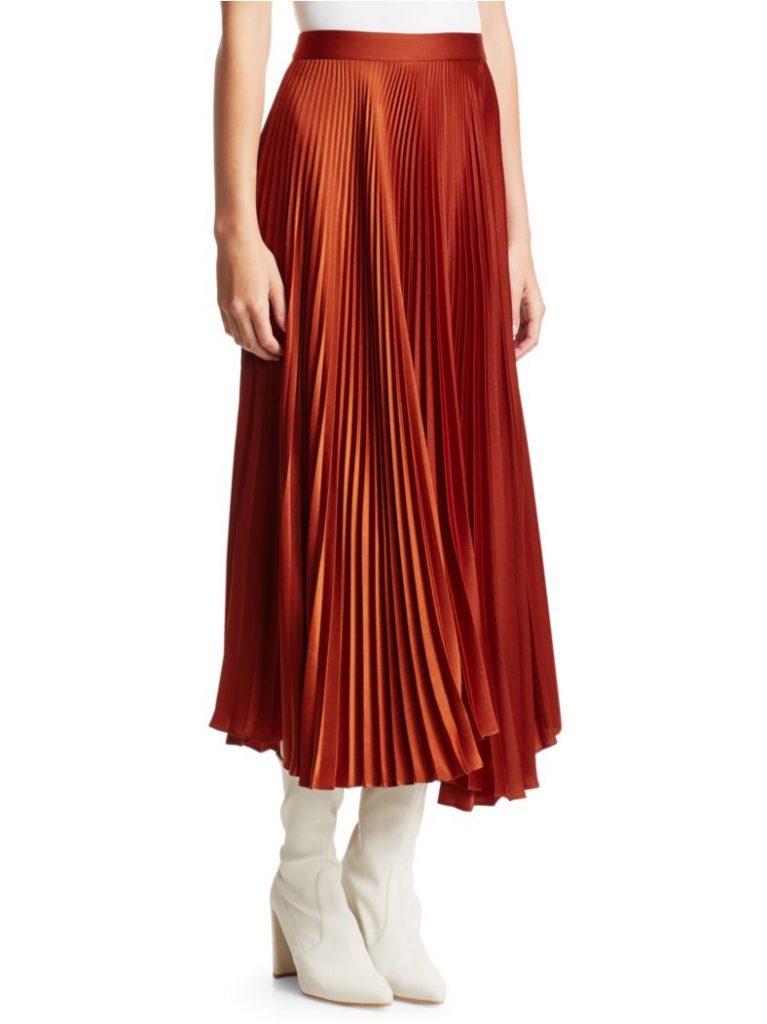 ALC Bobby Pleated Midi Skirt