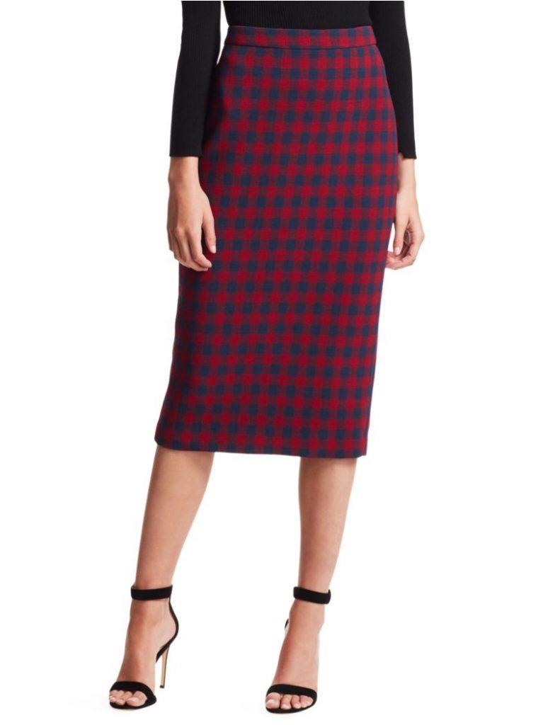 ALC Plaid Check Skirt