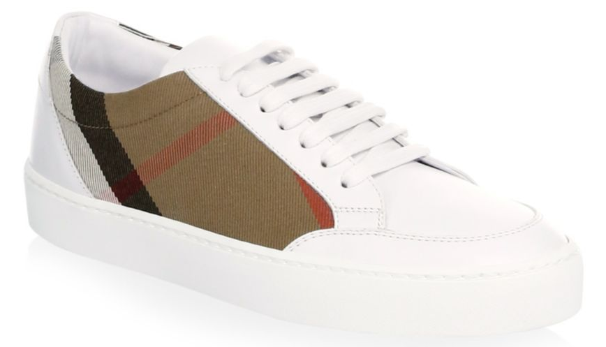 Burberry Salmond Low-Top Leather Sneakers